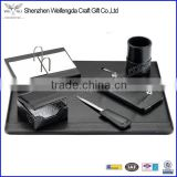 High Quality 6Peices Leather Office Luxury Desk Set