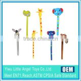 PVC inflatable stick toys animal head