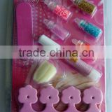 nail art stamping plates/set, fashional nail art set (HL-056) with flakes/glitter powder/flitter/mini beads mix + nail file/tip