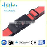 High quality combination locking luggage belt of anti-theft alarm with adjustable distance
