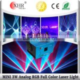 XHR Analog Modulation Mini 3W RGB Advertising Laser Light Projector