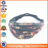 The 2016 Wholesale Grotesque Pattern Printing Canvas Material Running Fanny Pack