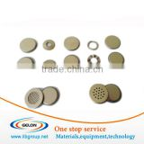 Lithium coin cell material CR 2032 coin cell cases with O-rings , spacer and stainless steel wave spring