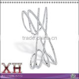 Fashion Design AAA Cubic Zirconia 925 Silver Bangles