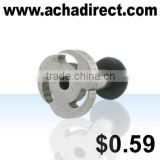 Stainless steel jewelry, fashion body jewelry flesh tunnel plug made of steel, price starts from US $ 0.59 per piece