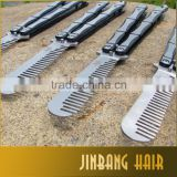 Wholesales Multi function Stainless Steel Comb Metal Practice Balisong Trainer Training Knife Cool