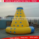 2015 hot sale inflatable water rock climbing wall / inflatable water park equipment for climing