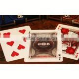 Free shipping custom game cards front and back Printing linen-embossed playing cards black playing cards ---DH20719                                                                                                         Supplier's Choice