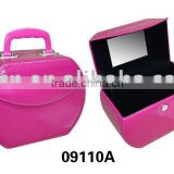 Travel faux leather make up case with mirror inside