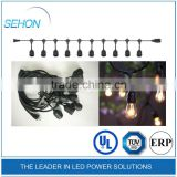 Most selling 48ft outdoor decorative Holiday Lighting Strings with E27 Sockets UL listed