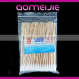 Customized bamboo stick medical cotton buds