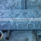 Dragon lion tortoise phoenix serve wall relief sculpture marble stone hand carved for decoration from Vietnam