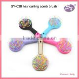 new arrival hair styling tool massage comb/brush with back mirror