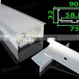 Wall Mounting Aluminum Extrusion Profile LED For LED Strip Quad Row