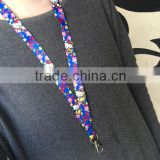 Cheap Custom Printing Lanyard With Keychain Colorful Heated Transfer Lanyard Free Samples