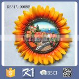 custom beautiful sunflower polyresin souvenir fridge magnet
