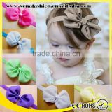 mix colors chiffon bowknot top baby headband wholesale                                                                                                         Supplier's Choice