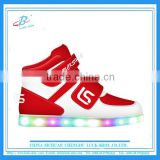 Factory wholesale OEM USB charge Children kids Led shoes fashion colorful led light kids shoes with high quality
