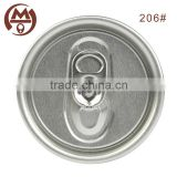 Aluminum soda drink easy open end can lid 206# SOT