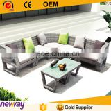 New products china direct factory synthetic rattan sofa set resort outdoor furniture