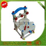 Multi colour wooden baby high chair