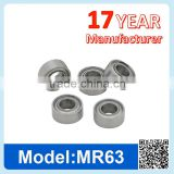 MR63 ZZ RS Miniature Ball Bearing Deep Groove Ball Bearing