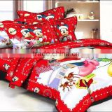 100% polyester kids cartoon bedding set cartoon bedding sets/nantong factory/chirstmas beddding set
