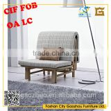 Modern middle density sponge,hardware structure,fabric mulfunctional Sofa chair wirh stainless steel legs