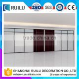Aluminum Frame Glass Office Partition Wall,Transparent Glass Divider For Office,Hotel,Restaurant