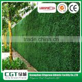 Artificial for green wall crafts/decor artificial grass with flower/artificial wall decoration green fence wall