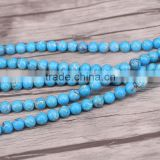 Resin Round Sediment Imperial Jasper BEADS Flat Back Beads Decorate DIY Crafts Striped Lake Blue Ball European Bead