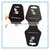 silk-screen black paper necklace tag for necklace jewelry