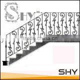 Staircase safty wrought iron prefab metal stair railing