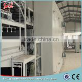 High quality service non - woven polyester fiber oven/spray bonding production line