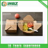 Take away custom kraft paper square food container