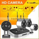 Private 4CH Mini Wireless HD CCTV IP Camera NVR Security System Kit 720P/960P