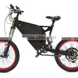 48V 1500W off road stealth bomber electric bicycle , beach cruiser electric bike, men's ebike