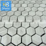 Home decoration hexagon glass stone mosaic wall tile