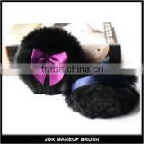 Round Shape Powder Puff Feather Powder Puff with Bowknot Multicolors Feather Powder Puff