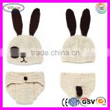 C588 Infant Newborn Unisex-baby Crochet Beanie Hat Baby Photograph Crochet Hand Knit Dog Hat