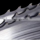 Wood working band saw blade for sawmill with TCT blade tip