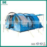 Blue waterproof camping tent family