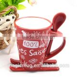 Wide varieties XMAS ceramic mugs with customized Christmas design ceramic coffee mugs beer mugs
