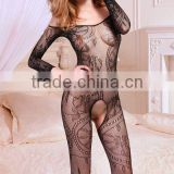 lady sexy lace crotchless bodystocking
