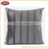 2014 china wholesale grey pleated cushion cover