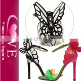 Newest Unique Design Ladies Fancy Heel Girls Latest High Heel Sandals