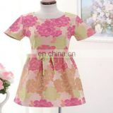 Lady's Woven Print Sweet Dress