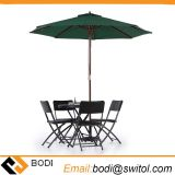 Amazon Ebay Hot Sale Wooden 2.7m Large Patio Table Umbrella Outdoor Cafe Beach Garden Backyard Parasol