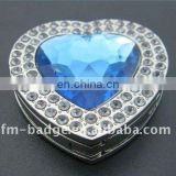 heart shape baghanger with blue cystal