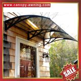 outdoor house door window diy pc polycarbonate awning canopy shelter canopies awnings cover shield with engineering plastic bracket